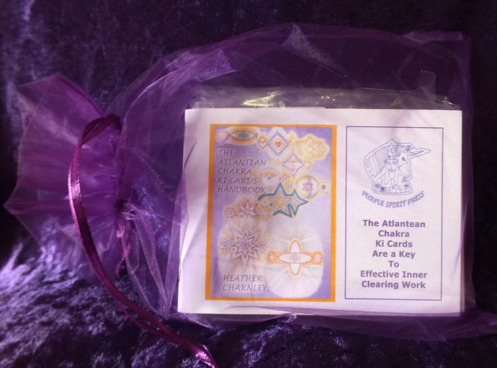 atlantean chakra ki cards in bag