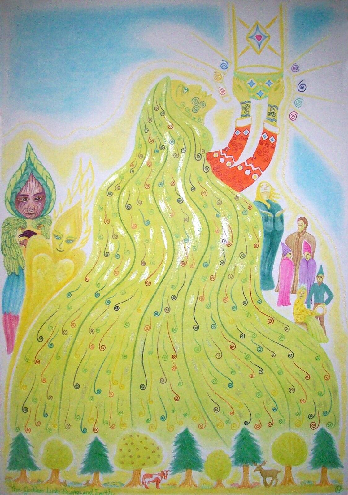 goddess links heaven & earth