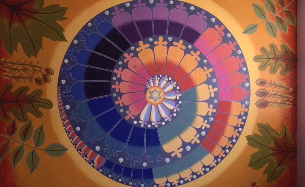 spiral rose window